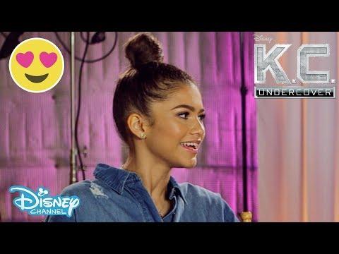 K.C. Undercover | Zendaya & Veronica Dunne BTS Interview | Official Disney Channel UK