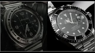 ROLEX Submariner vs VOSTOK Amfibia !