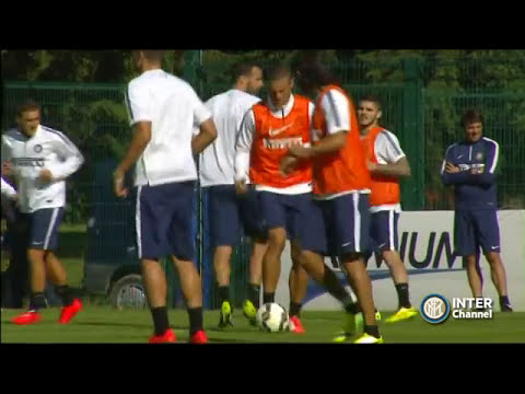 PINZOLO 2014 - ALLENAMENTO INTER REAL AUDIO 09 07 2014