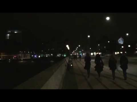 Footage from Copenhagen filmed at the Norrebro Police checkpoint at 1:59AM