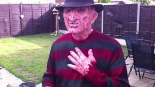 My 2nd Freddy Krueger costume- Eddie Burns silicone mask & hand by Darkride82... ;-)