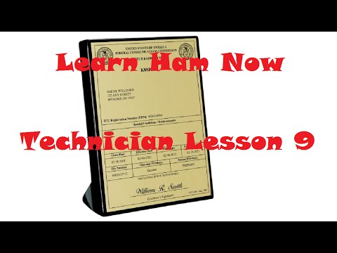 Amateur Radio HAM Technician Lesson 9 Questions T1C06 - T1C10