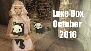 Luxe Box - October 2016 - Unboxing Video - Second Life Subscription Box