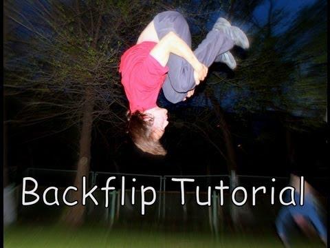 Backflip Tutorial (как сделать заднее сальто - обучалка) фриран - сальто назад от MeteorRed -