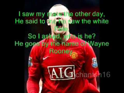 He Goes By The Name Of Wayne Rooney Football Song