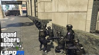 GTA 5 LSPDFR Police Mod Ep 58 | Pacific Bank Heist | Assorted  Callouts | NYPD ESU Swat Patrol