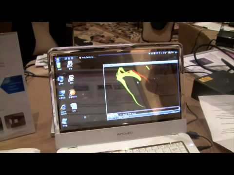 Transparent OLED Screen for Samsung Notebooks - CES 2010