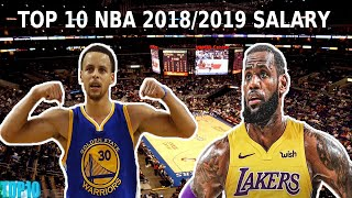 TOP10 NBA  SEASON 2018/2019 SALARY