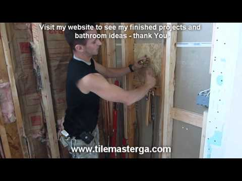 Part.1  Shower Diverter - Transfer valve installation step by step -- Moen. Delta. Kohler how to