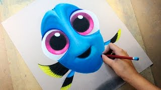 Speed Drawing: Baby Dory (Finding Dory | Buscando a Dory) | Diana Díaz