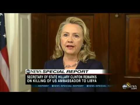 US Ambassador Death in Libya: Hillary Clinton Speech - Christopher Stevens' Death 'Should Shock'