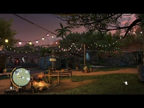 Far Cry 3 Time Lapse Day-Night Cycle - 24 Hours in 90 Seconds - Amanaki Town at 10x Speed
