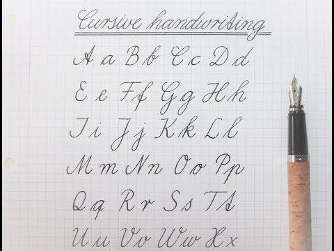 Howto Write-In Cursive