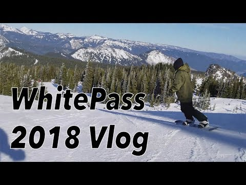 A Day Snowboarding at WhitePass WA vlog