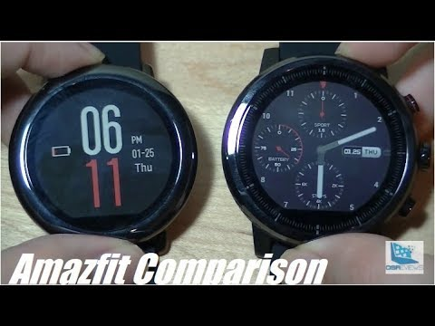 Comparison: Amazfit Pace vs. Stratos (Pace 2) Smartwatch