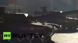 RAW: RS-24 Yars, Armata T-14s parade in Moscow for #Victory70 rehearsal