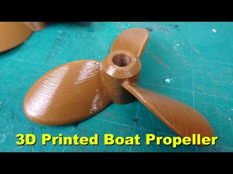 XRobots - Boat Part 9, 3D printing an electric propeller and outboard motor mounts