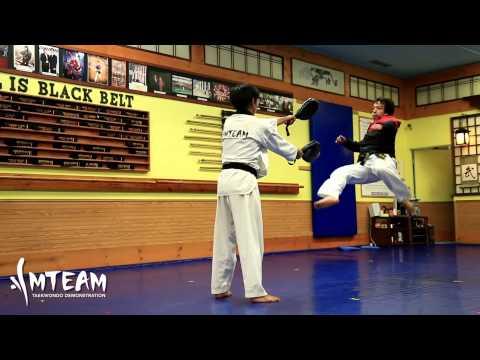Team-m Taekwondo: 360, 540, 600, 720, & Back-flip video