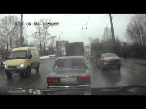 02.04.13 ул. Орджоникидзе г. Ижевск. Дтп с пешеходом.