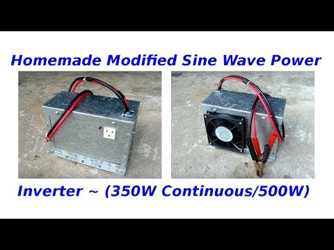 Homemade Modified Sine Wave Power Inverter(350/500w)
