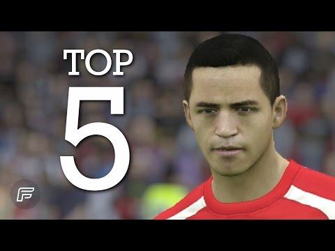 Alexis Sánchez - Top 5 Goals for Arsenal 2014/15 (FIFA 15 Remake)