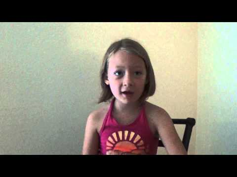 Health Benefits of Eating Fruits and Vegetables Explained by Cute 6-Year-Old Girl