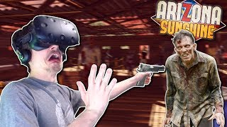 DEFENDING AGAINST ZOMBIE HORDE?! - Arizona Sunshine Gameplay - VR Zombie Survival Horde Mode