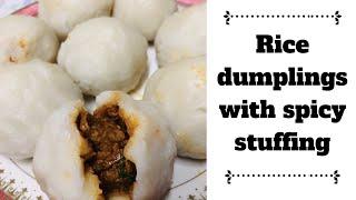 Rice dumplings with masala Stuffing/spicy kozukatta