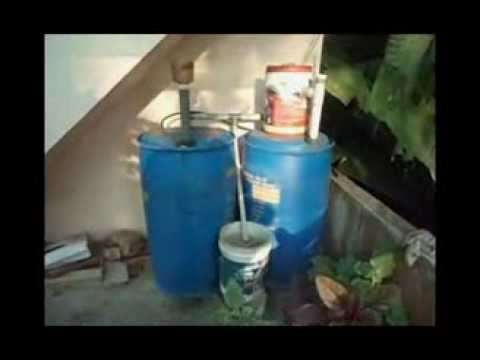 Home made biogas plant youtube for Household biogas plant design pdf