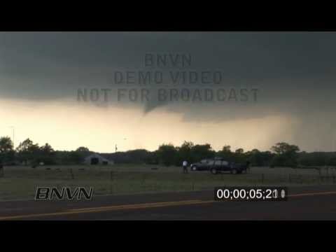 5/10/2010 Wakita OK Tornado and Hail stock video