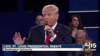 Presidential Debate - Name one positive thing about the other - Hillary Clinton Donald Trump