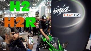 Rickey Gadson's Kawasaki H2 Hybrid @ New York Motorcycle Show