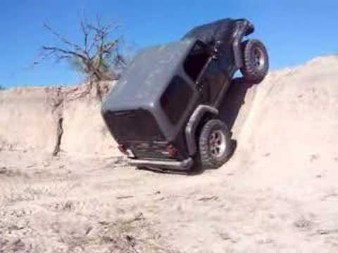 Jeep Rubicon almost vertical