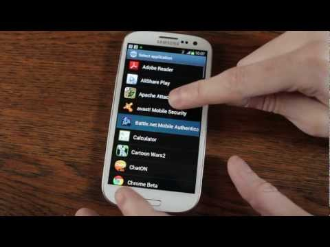 How To change Samsung Galaxy  S3 Lock Screen Shortcut Icons TouchWiz 5 - Androidizen