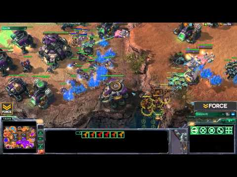 StarCraft 2 - 4v4 ZZZP vs ZTTP - Commentary