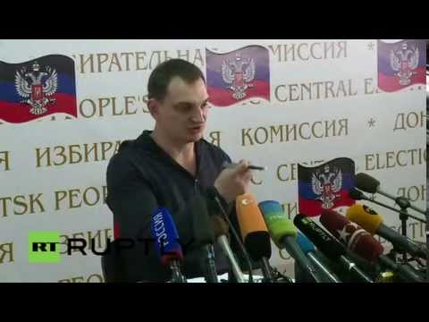 LIVE Donetsk's Referendum: Press Conference by the Central Election Committee