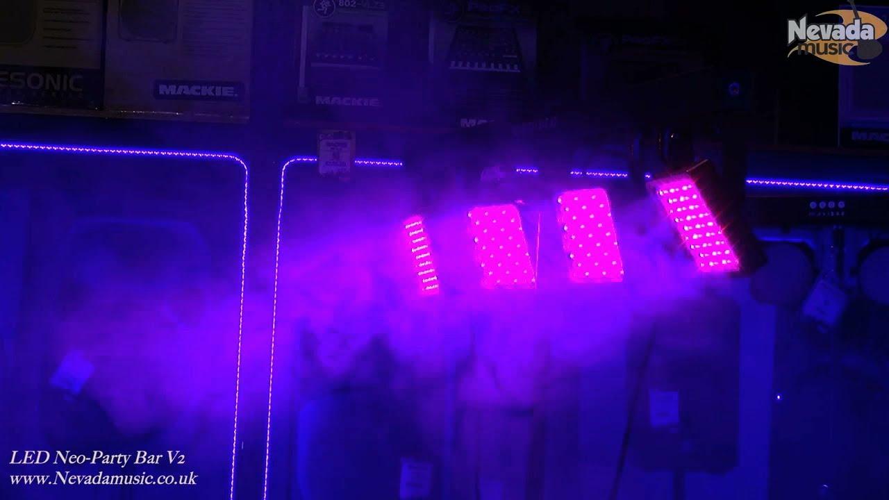 Neo Neon Led Party Bar V2 T Bar Lighting Rig Demo Nevada