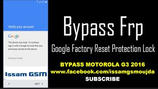 BYPASS MOTOROLA G3 VERSION 6.0.1 REMOVE GOOGLE ACCOUNT FRP 2016