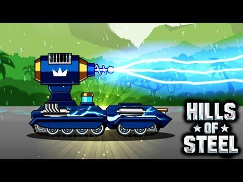 Новый ТАНК ТЕСЛА в HILLS of STEEL Сумасшедшие мультяшные танки ИГРА tanks BATTLE video GAME kids