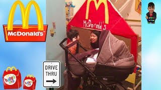 McDonald's Drive Thru Kid Brings His Newborn Brother Buying Food | Pretend Play | 2 Brothers
