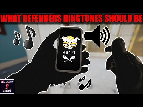 What Defenders Ringtones Should Be - Rainbow Six Siege - White Noise