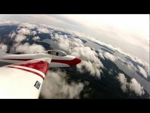 Schweizer SGS 2-32 over Bar Harbor, ME and Acadia Nat'l Park (KBHB) Aerobatics/Tow Release 3/6 HD