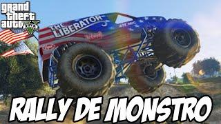 GTA V - Rally de Caminhão de MONSTRO, UMA ZONA