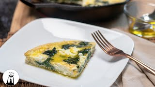 Spinach & Goat Cheese Frittata (Keto & Low-Carb) | Black Tie Kitchen