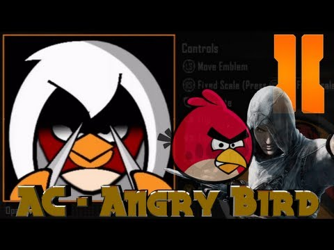 Black Ops 2 - Assassins Creed Angry Bird Emblem Tutorial video