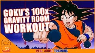 ? Goku's 100x Gravity Room Training (Dragon Ball Z) | Real Anime Training