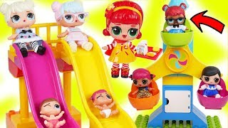 LOL Surprise Dolls + Lil Sisters get New Duplo Fair Carnival with Pets - Toy Wave 2 Fizzy Video
