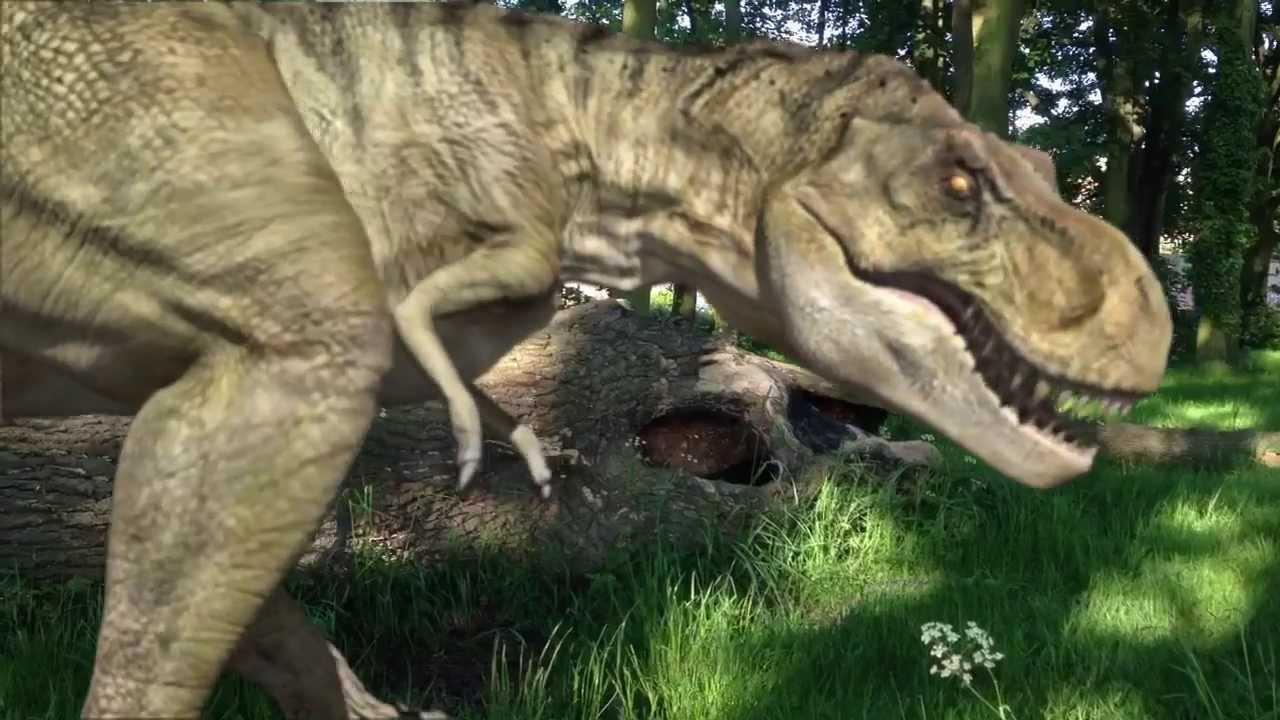 Youtube Tyrannosaurus Azteca T-Rex, attacks kids in...