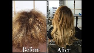 Hair Color Correction | Going Blonde on Curly Hair