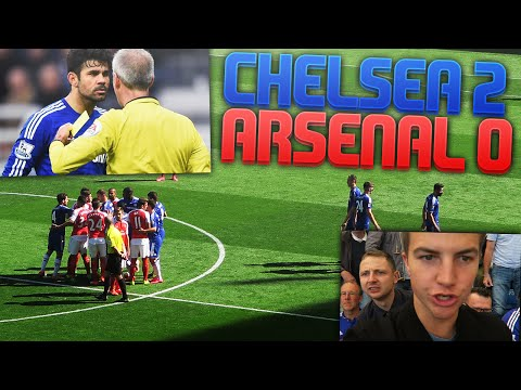 DIEGO COSTA... RED CARD | CHELSEA 2 V 0 ARSENAL